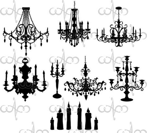 Chandelier Photoshop Brushes Baroque Chandeliers Clip Graphic Design Pattern For Your Projects Baroque Clip
