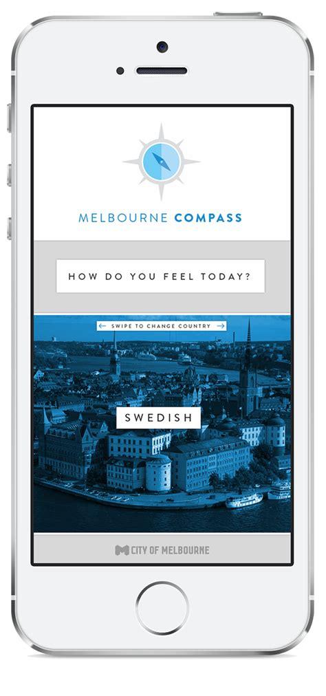 app design melbourne melbourne compass on app design served