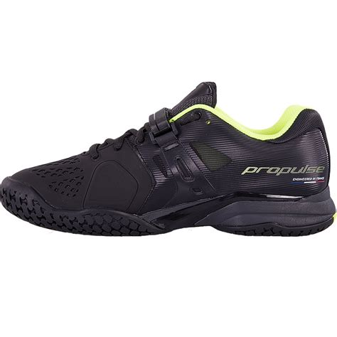 babolat propulse aero all court s tennis shoe black yellow