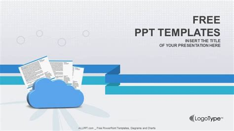 Doc Powerpoint Templates clouds and documents powerpoint templates