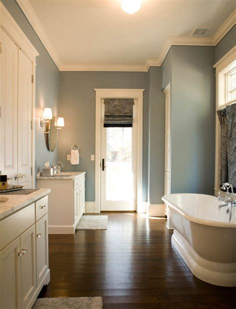 bathroom with dark wood floor ivory and blue bathroom transitional bathroom mitch
