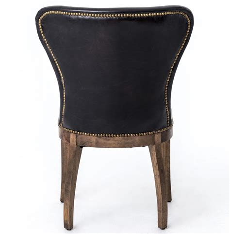 cornelius top grain cigar black leather weathered oak