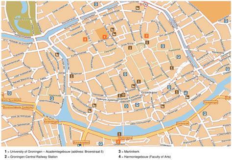 netherlands map groningen groningen tourist map