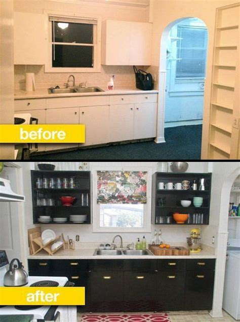 rental kitchen ideas kitchen before after a rental kitchen gets a glam makeover small space big ideas
