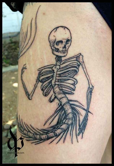 mermaid skeleton tattoo top 25 best mermaid skeleton ideas on siren