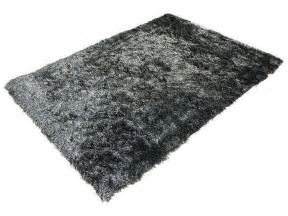 tapis 120x170 cm glitter coloris noir vente de tapis