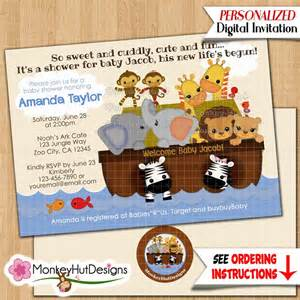 ss noah s ark baby shower invitations s s noah noahs ark