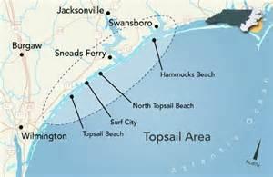 topsail carolina map topsail island carolina