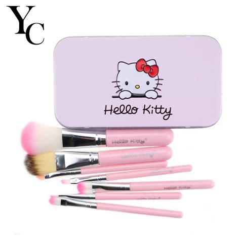 Make Up Brush 7 In 1 Black Hello yansh pink black hello 7 pcs makeup brush set professional cosmetics make up