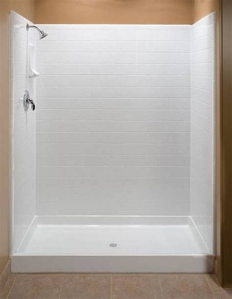 one piece acrylic bathtub shower 25 best ideas about fiberglass shower enclosures on