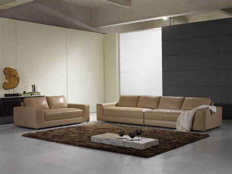 Luxury Modern Leather Sofa Furniture 4 Seater Leather Upscale Modern Furniture