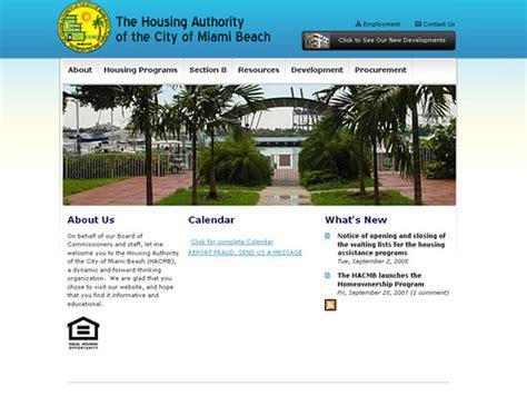 miami beach housing authority housing authority of the city of miami beach www hacmb