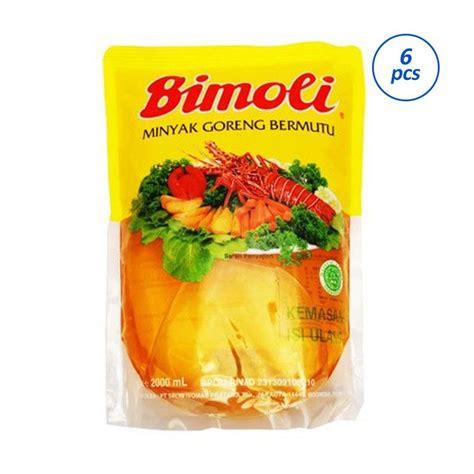 Minyak Goreng Aroma jual bimoli klasik pouch minyak goreng 2000 ml 6 pcs