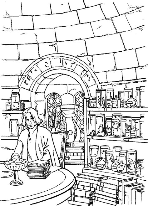 Kids-n-fun.com | 26 coloring pages of Harry Potter and the