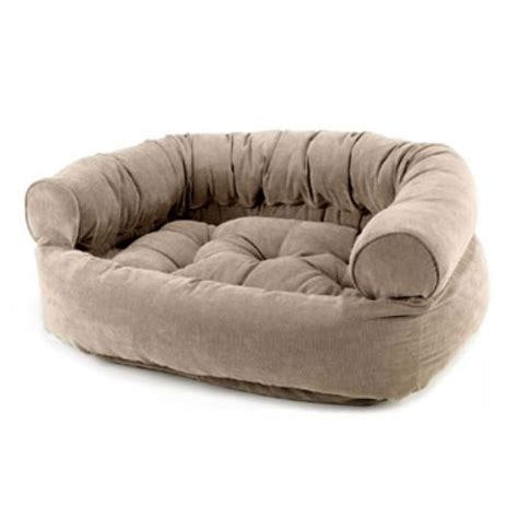 couch pet bed bowsers microvelvet double donut dog bed sofa putty
