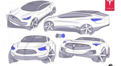 Tesla Model X Sketches by Tesla Model X