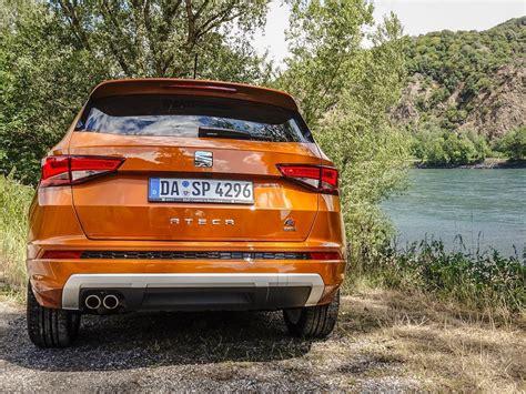 Beautiful SEAT Ateca FR in Samoa Orange parked next to the Donau near Vienna @seat de @seat