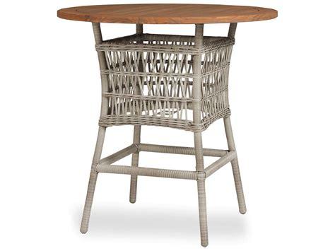 Lloyd Loom Bistro Table Lloyd Flanders Mackinac Wicker 40 Bar Table With Teak Top 273040