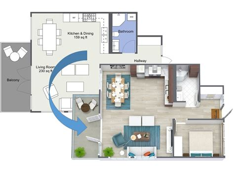 3d Home Design Easy To Use Free Floor Plan Software Roomsketcher