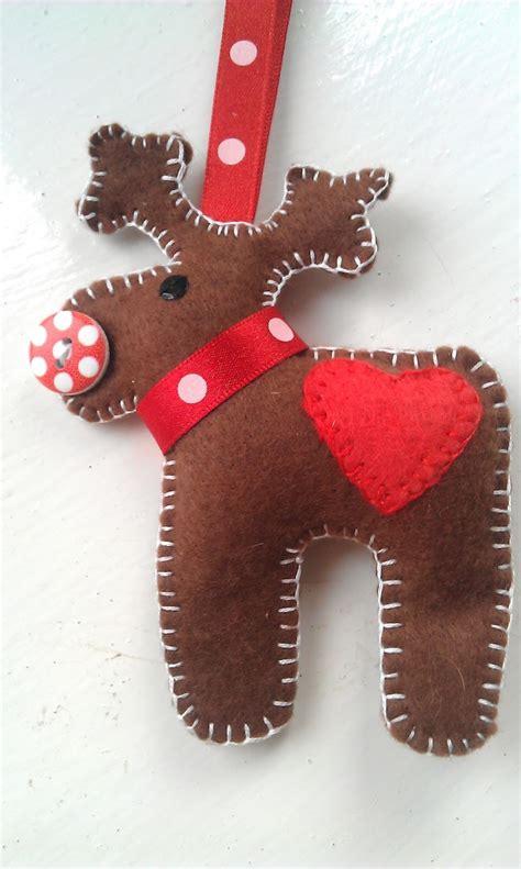 best photos of reindeer felt ornament templates