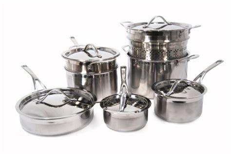 Panci Staenless Steel Vita 9 Pc Set shopping starfrit dolce vita 12 stainless steel tri ply cookware set shopping