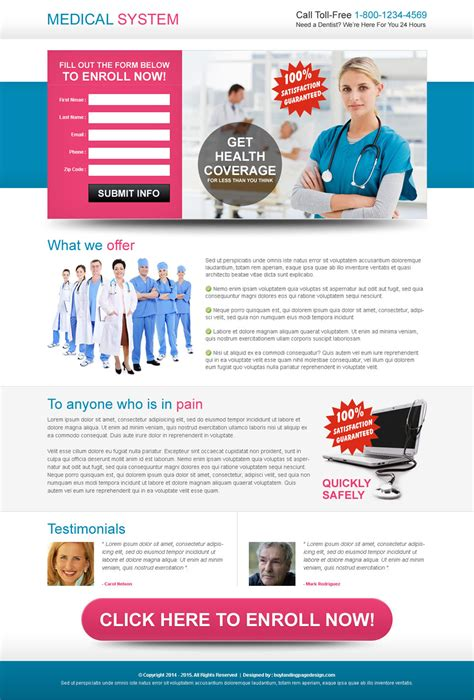 landing page design template auto insurance quote landing page design templates