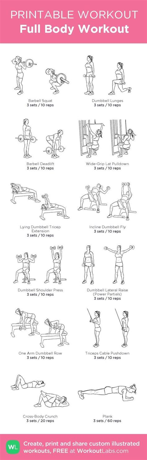 Printable Exercise Routines For Weight Loss | 4 simple exercises to get the perfect belly in just 4
