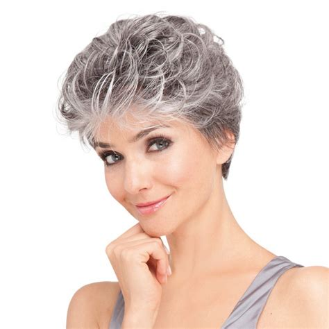 salt and pepper pixie cut human hair wigs noelle mono wig by ellen wille monofilament lace front