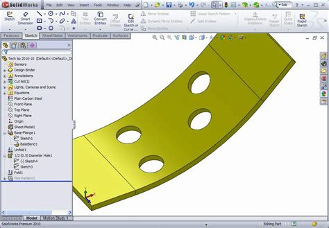 solidworks flat pattern bend notes solidworks sheet metal how to create the axis of a bent