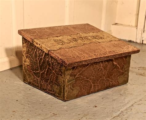 the slipper box antiques atlas arts crafts copper brass fireside