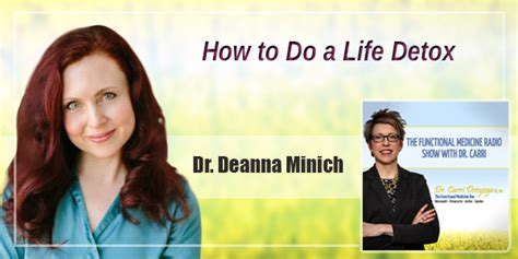 The Detox Deanna Minich by How To Do A Detox With Dr Deanna Minich The