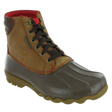 sperry avenue duck boot mens boots