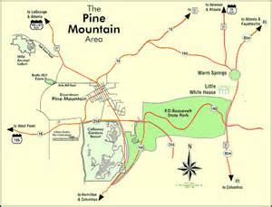 pine mountain map pine mountain department pine mountain