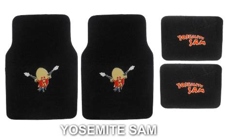 pc looney tunes yosemite sam front  rear floor mats  car suv truck hamonononoeraea