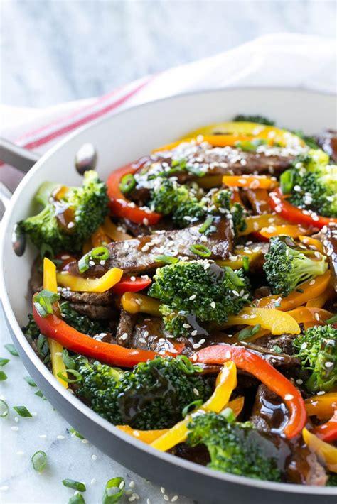 vegetables used in stir fry teriyaki beef stir fry dinner at the zoo