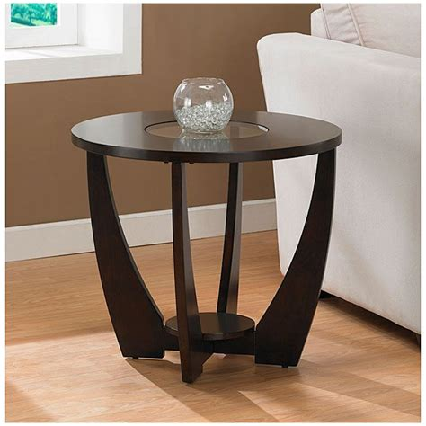 Espresso Side Table Archer Espresso End Table With Shelf