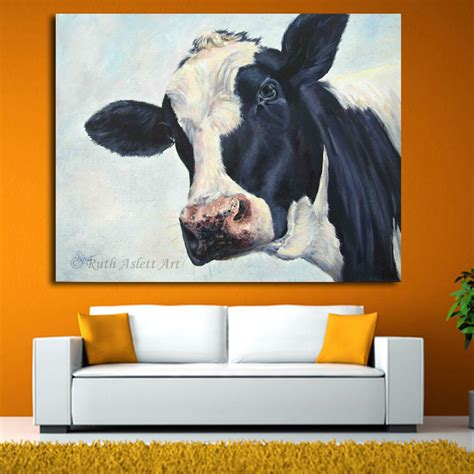 cow home decor home decor wall cow painting cow molly moo low painting for living room modern animal