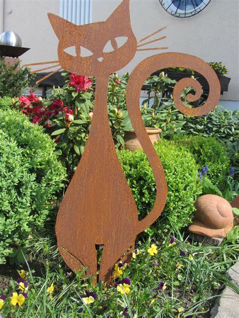 Garten Deko Metall Rost by Katze
