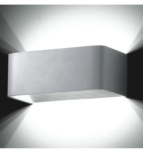 applique a led applique murale led design rectangle quadra 20cm 6w