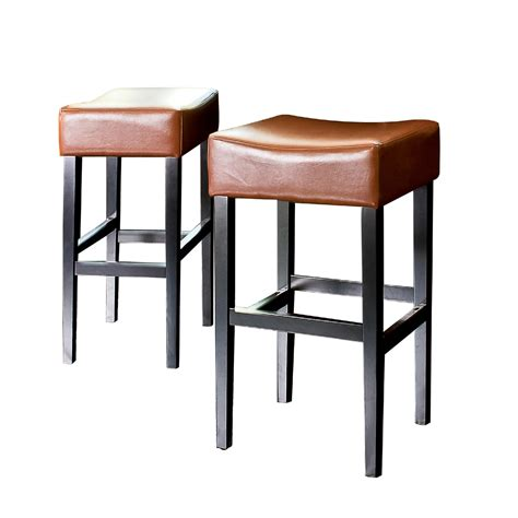 Leather Backless Bar Stools by Best Selling Home Decor Classic Backless Leather Bar Stool