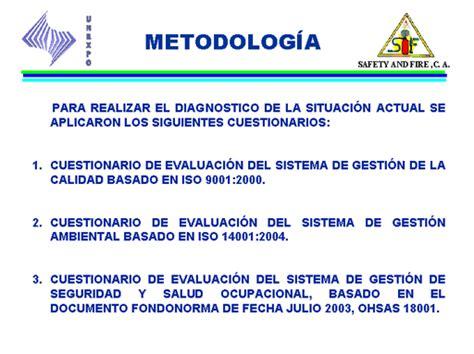 evaluacion del sistema de gestion de la calidad implementado en la evaluaci 243 n y dise 241 o de un sistema de gesti 243 n integral de