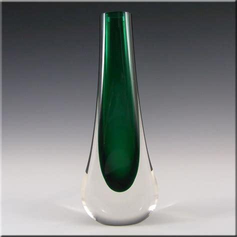 Glass Teardrop Vase by Whitefriars Baxter Sea Green Glass Teardrop Vase 9571 163 34 99