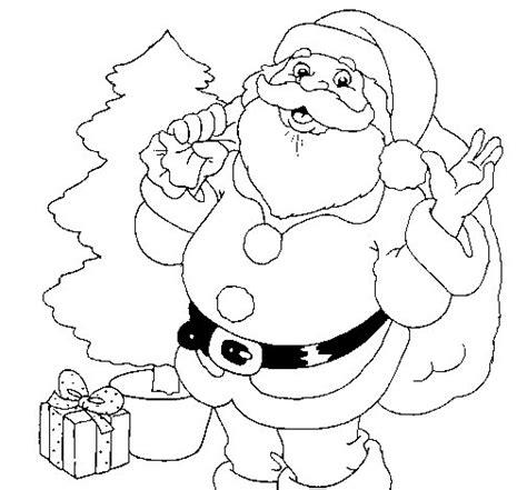 imagenes de santa claus animadas para dibujar dibujo de santa claus y un 225 rbol de navidad para colorear