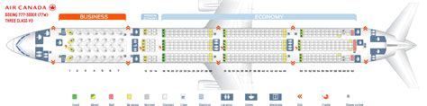 seating chart boeing 777 air canada seating chart 77w seat map air canada boeing