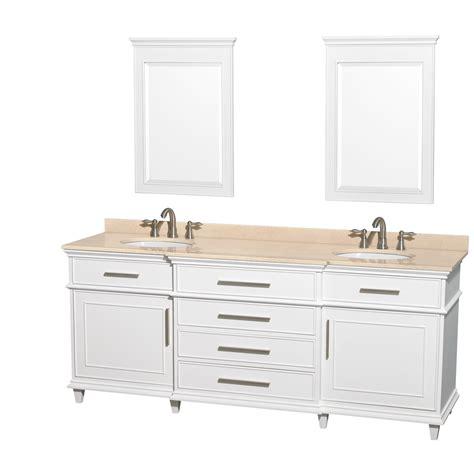 80 double sink bathroom vanity berkeley 80 inch white finish double sink bathroom vanity