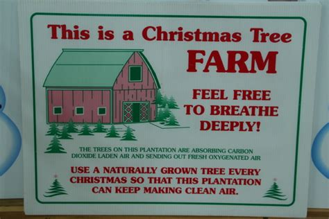 this is a christmas tree farm sign