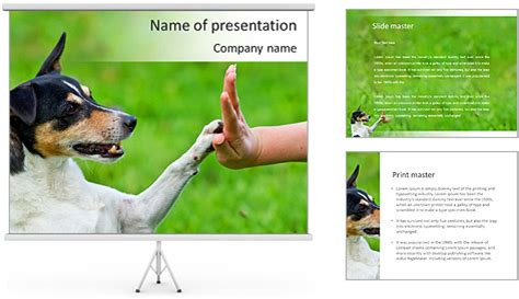 dog friend powerpoint template backgrounds id 0000007345
