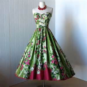 Garden Dresses Vintage 1950s Garden Dress Fifties Style