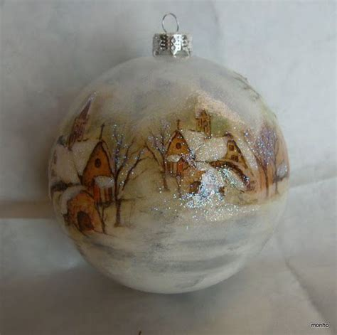 Decoupage Glass Ornaments - 73 best images about decoupage on snowflakes