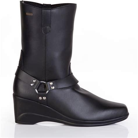 heeled motorcycle boots spada jazz ladies wp waterproof womens motorbike
